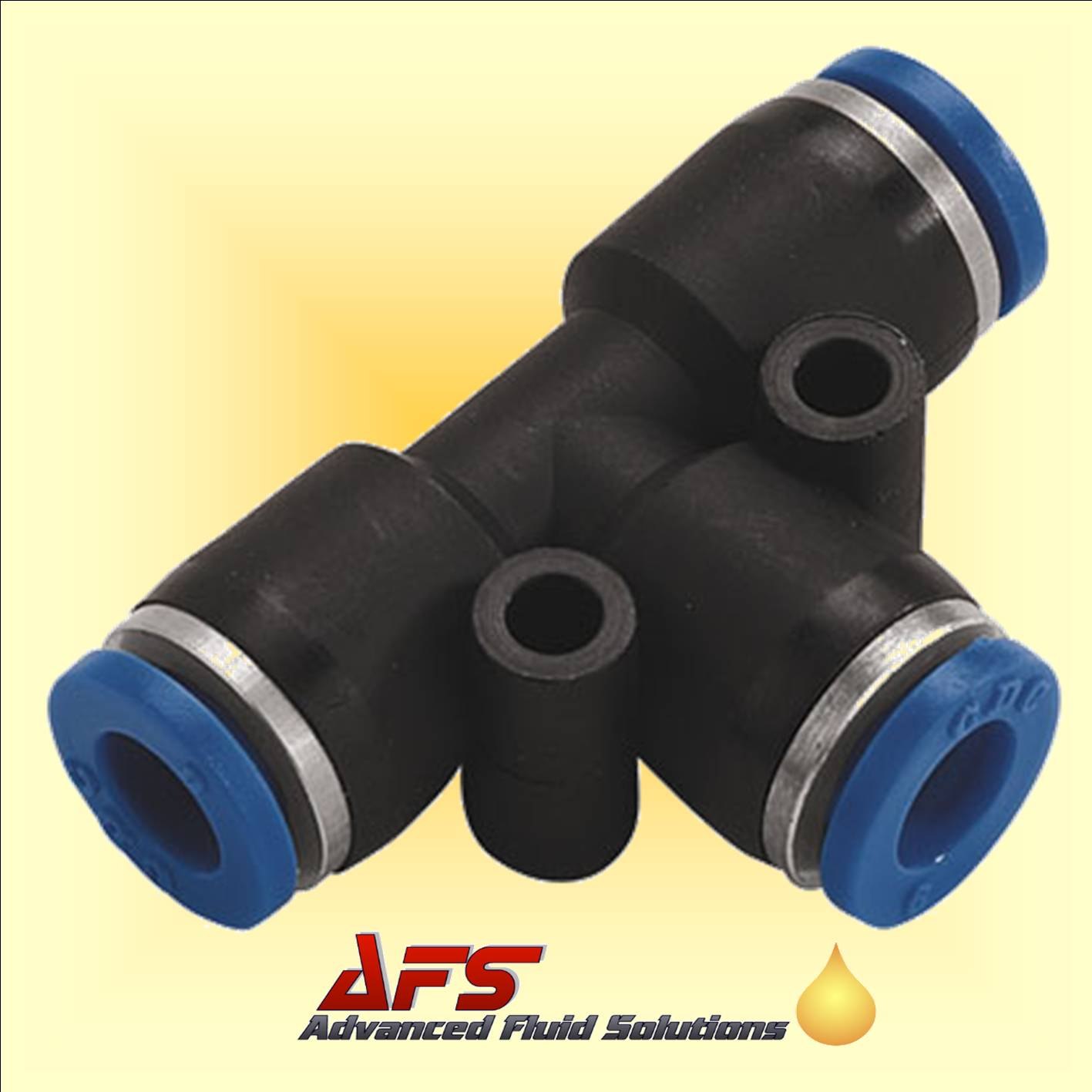 16mm Equal Tee Push In Fitting Nylon Pipe Tube Connector